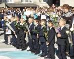 SAM_6609Благочинный Становлянского района поздравил учеников с началом нового учебного года