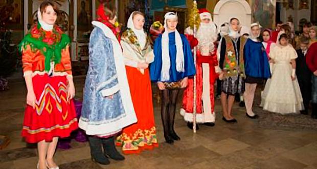 Рождественский утренник в Тихвинском соборе Данкова