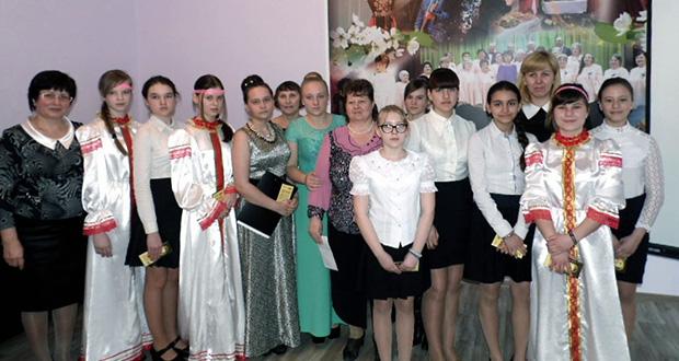Встреча воспитанников воскресной школы Казанского собора г. Лебедянь с подопечными центра социальной защиты населения
