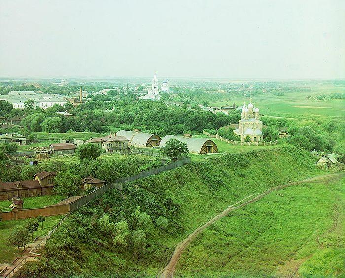 Прокудин-Горский. Рязань. Вид с северо-востока. 1912 год.