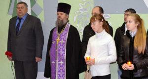 Митинг во имя памяти земляков-чернобыльцев в Измалково