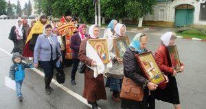 В Чаплыгинском благочинии состоялся крестный ход, посвященный дню памяти святых равноапостольных Кирилла и Мефодия