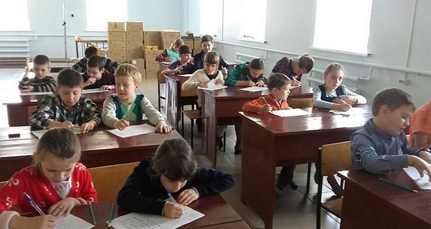 Урок, посвящённый Дню славянской письменности, прошел в воскресной школе «Лампада» при Вознесенском храме г. Чаплыгина