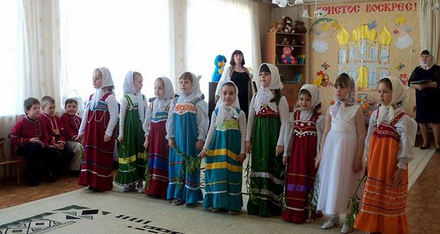 Праздничный концерт, посвященный Светлому Празднику Пасхи в детском саду Долгоруково
