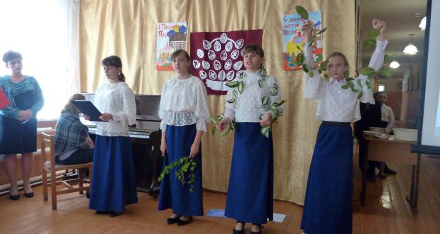 Пасхальный концерт в школе с. Юсово Чаплыгинского района
