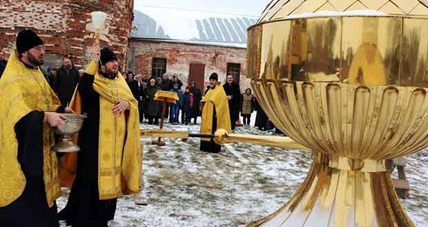 Освящение Креста в Раненбургской Петропавловской мужской пустыни