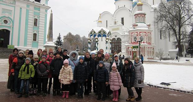 Воспитанники воскресных школ Лебедянского благочиния в Троице–Сергиевой Лавре