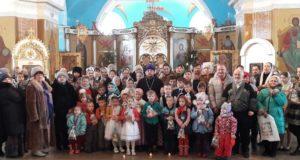 Рождественскийутренник в Тихвинском соборе Данкова