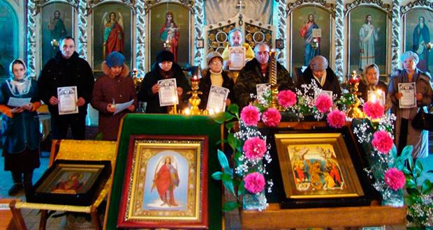Принятие обета трезвости прихожанами Троицкого собора г. Чаплыгина