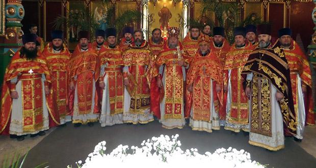Соборное служение духовенства Лебедянского благочиния