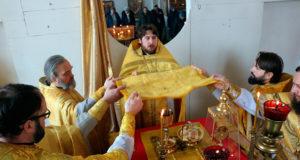 Соборное богослужение в Никольском (Зареченском) храме