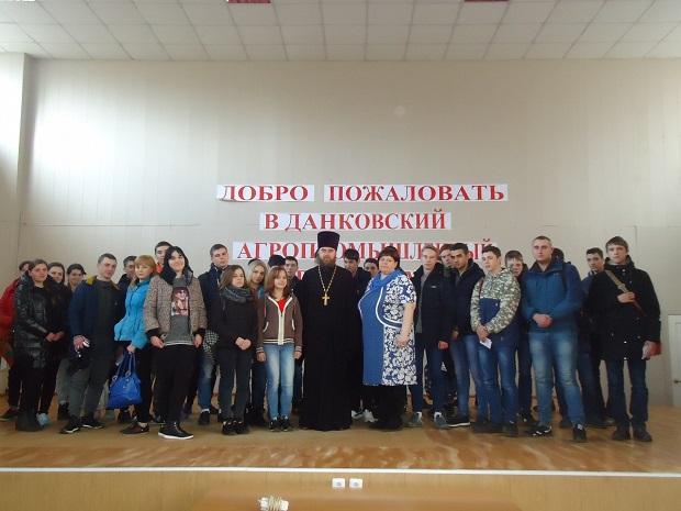 В Данковском благочинии состоялись встречи священнослужителя со студентами и кадетами