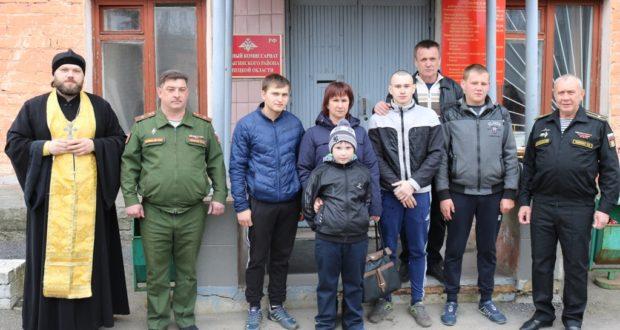 Благословение призывников перед отправкой к месту прохождения военной службы