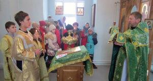 Учащиеся воскресной школы Троицкого храма п. Лев Толстой посетили Шовское