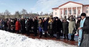 В Лебедяни прошли траурные митинги по жертвам в Кемерове
