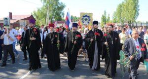 Духовенство Чаплыгинского благочиния приняло участие в праздничном марше в честь Дня Победы