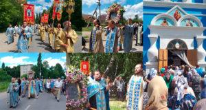 В Данкове прошел крестный ход c Тихвинской иконой Божией Матери