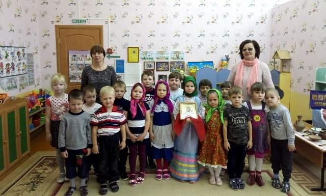 Детям из д/с «Теремок» г. Чаплыгина рассказали о Казанской иконе Божией Матери
