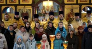 Соборная служба и собрание духовенства Становлянского благочиния