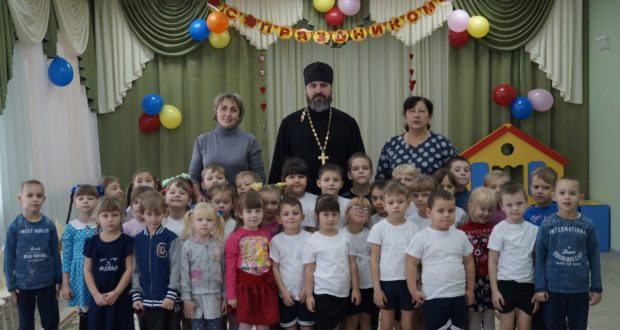 Священник посетил д/с в селе Казаки
