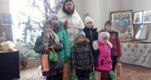 Рождественский утренник в воскресной школе с. Афанасьево