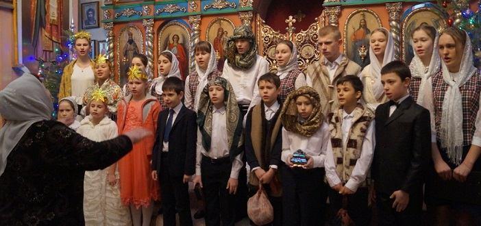 Рождественский утренник в воскресной школе с. Становое