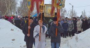 Крестный ход с иконой Божией Матери «Избавительница от бед» завершил свое шествие в Чаплыгинском благочинии