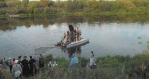 Второй день крестного хода Елец-Задонск. Переправа через Дон
