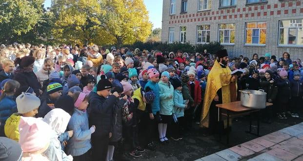 В 24-ой школе г. Ельца отслужили водосвятный молебен