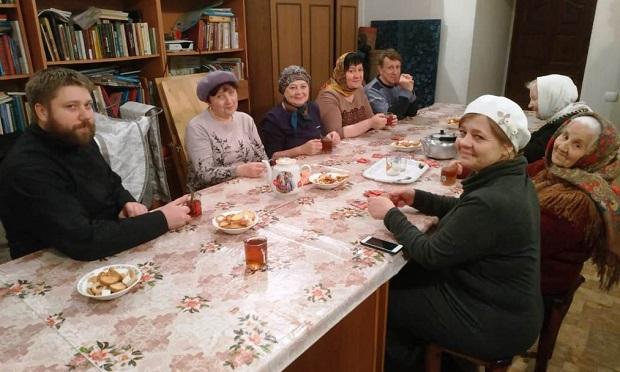 Занятия в воскресной школе Никольского храма г. Чаплыгина