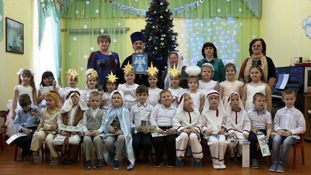 Рождественские утренники в детских садах г. Чаплыгина