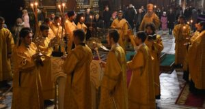 Всенощное бдение в Вознесенском соборе