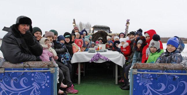 «Однажды в Рождество…» были огромные сани...