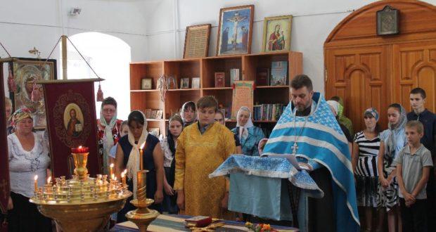 Молебен на начало учебного года в храме села Берёзовка Становлянского района